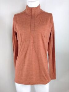 Smartwool Men Merino Sport 150 Long Sleeve Zip Top Brown Medium 15164-C92