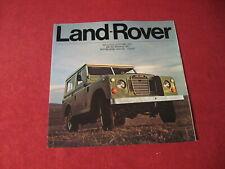 1973 Land Rover Sales Brochure Booklet Catalog Old Original Book