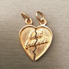 NEW 9ct Yellow Gold Solid Best Friends Charms 375 Break Pendant Great Gift
