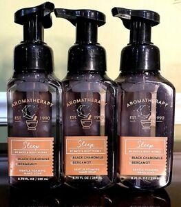 B&BW LOT OF 3 Aromatherapy SLEEP BLACK CHAMOMILE Gentle Foaming Hand Soaps RETIR