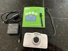 Nikon Coolpix S32 13.2MP Waterproof Shockproof Digital Camera White - Bundle