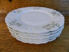 """M REDON LIMOGES France 9 1/2"""" Dinner Plates set of 5 #5069 blue floral flowers"""