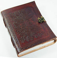 Green Man leather journal , book of shadows, Wiccan Pagan