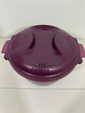 Tupperware Large Microwave Rice Cooker Plum