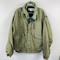 Vintage Columbia Men's Size XL Radial Sleeve Double Lined Jacket Zip Up Snap