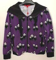 BNWT Vivienne Tam Popp Panda Cartoon Purple Hooded Jacket Hoodie Medium Age 8-10