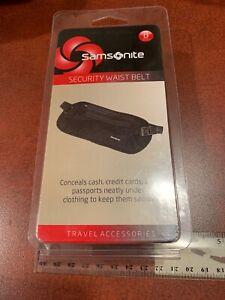 SAMSONITE Travel Security Waist Belt, Black Luggage NEW FREE SHIPPING