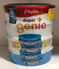 Playtex Diaper Genie Refill Disposal System Odor Lock 4 refills Holds Up To 960