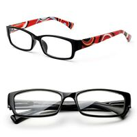 Designs temple style w/ Rectangular Frame Reading Glasses w/ Spring Hinge