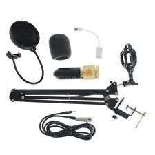 Studio Condenser Microphone Recording Equipment Kit Scissor Arm Sound Card