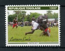 Togo 2017 MNH Evala Wrestlers 1v Set Cultures Traditions Wrestling Sports Stamps