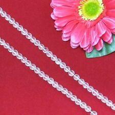 2 Strang weiß BergKristall 6mm kugeln facettiert Lose Perlen