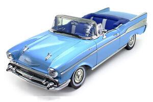 Chevy Bel Air Convertible (1957, 1/18 scale diecast model car, Blue) 73175TC/BU