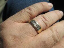 .4 carat ctw diamond ring size 9.75 5.8 gram men's 14 00004000  k yellow gold vintage