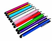 PENCILUPNOSE® 10 x QUALITY STYLUS PENS for IPAD , TABLET , IPHONE, SAMSUNG ETC