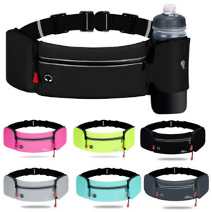 Running Belt Waterproof Fanny Pack Waist Pouch Outdoor With Water Bottle Holder