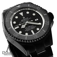 ALL BLACK ROLEX 44mm Deepsea Sea Dweller Ceramic Black Dial 116660