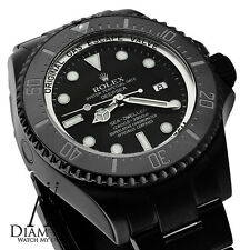 ALL BLACK ROLEX 44mm Deepsea Sea Dweller Ceramic Black Dial 116660