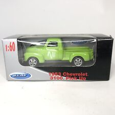 New Welly 1953 Chevrolet 3100 - Windstream Pickup Truck - Die Cast - Green