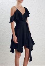 100% Silk Asymmetric Short Sleeve Dresses for Women