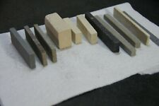 Vintage 10 Honing Sharpening Stones Different Shapes & Sizes