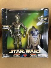 Star Wars 12 inch electronic C-3PO & R2-D2 Kenner NIB