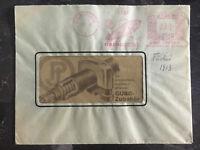 1938 Berlin Germany Meter Window Cover Zeppelin Paul Jordan Cancel