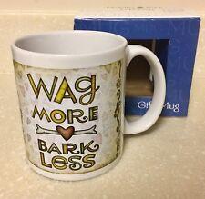 Love Dogs Coffee Mug WAG MORE * BARK LESS Gift Mug w/ Box NEW 12 oz Leanin' Tree