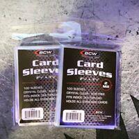 100 qty. BCW Soft Trading Card Penny Sleeves Pokémon Magic Sports Save 25% NEW