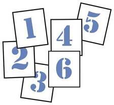 Stencil Template Spray On Numbers 0-9 Ten numbers in Total 100mm Reusable ST0910