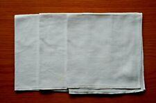 3 x Vintage Irish Linen Damask Table Square Napkins Bow Design