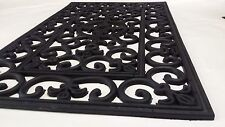 "Wrought Iron French Lily Rubber Mat 18"" x 30"""