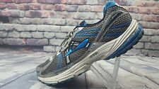 Men's Brooks Adrenaline GTS 12 Silver Blue Athletic Running Cross Training Shoes