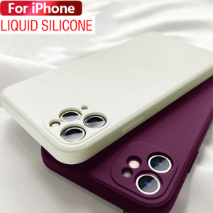 Genuine Original Silicone Case Cover for Apple iPhone 13 11 12 Pro Max XR XS 8 7
