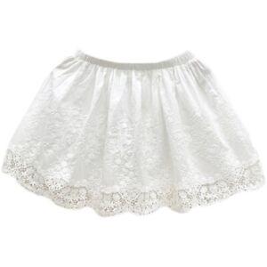 Women Underskirt Lace Cotton Embroidered Half Waist Slip Petticoat Mini Skirt