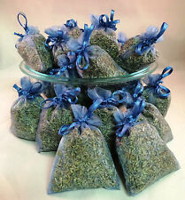 Set of 50 Lavender Sachets made with Smoke Blue Organza Bags