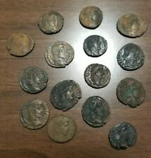 Fifteen Small Late Roman or Byzantine Copper Ancient Coins