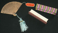 Chinese Mini Wooden Hand Fan with Box