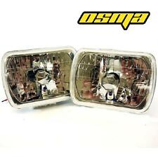 7x6 H6054 H6052 H6014 H4 Glass Diamond Cut Clear Head Light Headlight Housing
