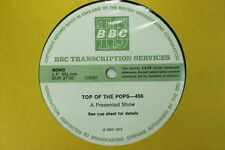 BBC 456 Transcription Disc TOP of POPS Live Elton John Mungo Jerry Gary Glitter