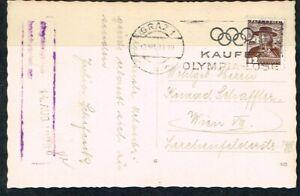 "Olympics. Berlin-1936. Austria olympic postmark ""GRAZ 1. Kaufet Olympia-Lose"""