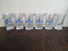 Lot de 6 verres - Shot - VODKA - ERISTOFF - 5 + 1 non floqué (RARE) - Shooter