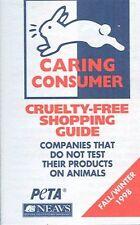 PETA 1998 Animal Rights Cruelty Free Guide Brochure