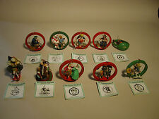 CHRISTMAS NORMAN ROCKWELL ORNAMENT COLLECTION DANBURY MINT WITH BOOKLETS AND BOX