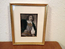 Antique 19th Century Print Depicting Man w/ Applied Clothing