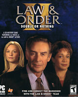 Law & Order II: Double or Nothing (PC, 2003, Legacy Int., Big Box, SEALED NEW)