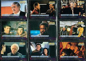 Star Trek The Next Generation Profiles Set 9 Croisé Personnages Cartes C1-C9