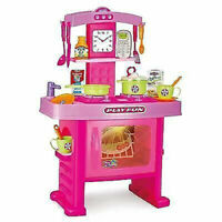 PINK ELECTRONIC CHILDREN'S KIDS KITCHEN COOKING ROLE PLAY TOY COOKER PLAY SET