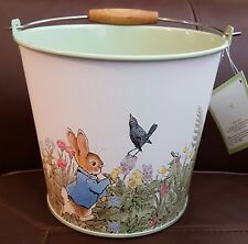 New Pottery Barn Beatrix Potter Easter Pail Bucket Retired Hard to find.
