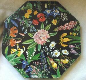 1968 Springbok OKTA-PUZZLE  Jigsaw Romance of the Flowers Maynard Reese 500+pc